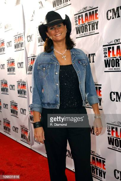 Terri Clark during CMT 2004 Flame Worthy Video Music Awards Red Carpet at Gaylord Entertainment Center in Nashville TN United States