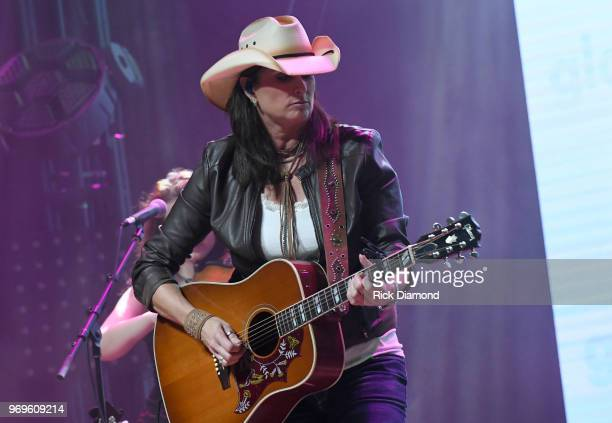 Terri Clark performs onstage at the GLAAD TY HERNDON's 2018 Concert for Love Acceptance at Wildhorse Saloon on June 7 2018 in Nashville Tennessee