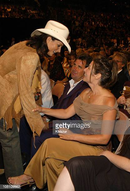 Terri Clark with Vince Gill and Amy Grant during 38th Annual Academy of Country Music Awards Backstage and Audience at Mandalay Bay Events Center in...