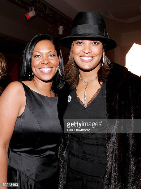Terri CorleyMizell and Boxer Laila Ali attend the 35th anniversary of the Addidas superstar sneaker honoring the life of Jam Master Jay at Skylight...