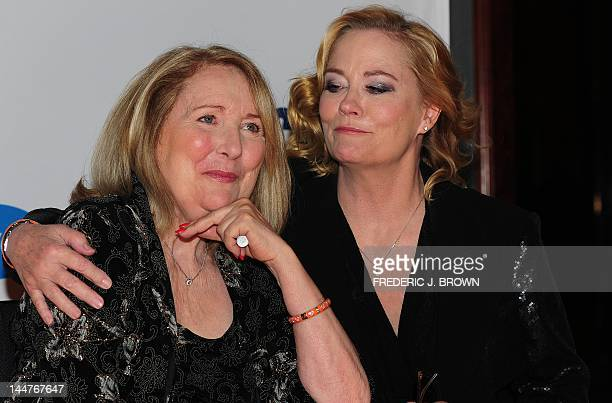 Terri Garr and Cybill Shepherd pose on arrival for the 19th Annual Race to Erase MS themed Glam Rock to Erase MS in Los Angeles on May 18 2012 The...