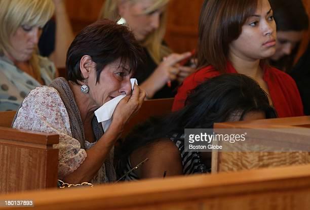 Terri Hernandez, mother of Aaron Hernandez, attends her son's arraignment in Fall River Superior Court. Aaron Hernandez, a former New England...