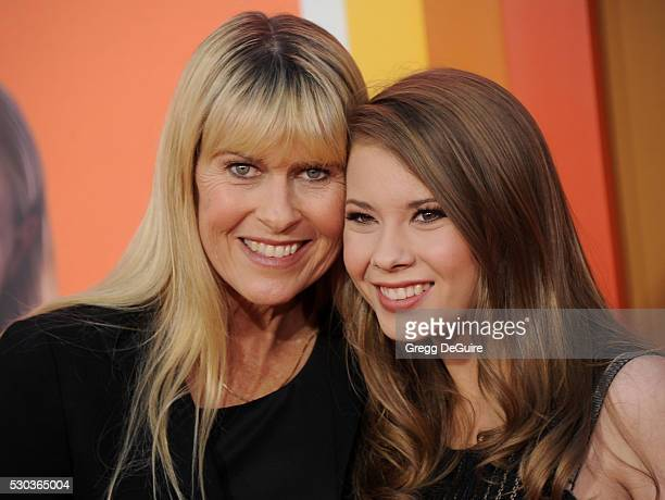 Terri Irwin and Bindi Irwin arrive at the premiere of Warner Bros Pictures' 'The Nice Guys' at TCL Chinese Theatre on May 10 2016 in Hollywood...