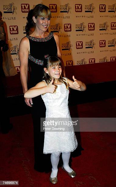 Terri Irwin and Bindi Irwin at the 2007 TV Week Logie Awards Arrivals at Crown Casino in Sydney NSW