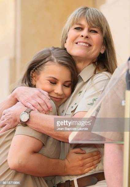 Terri Irwin and Bindi Irwin attend a ceremony honoring Steve Irwin with star on The Hollywood Walk of Fame on April 26, 2018 in Los Angeles,...