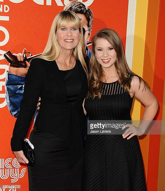 Terri Irwin and Bindi Irwin attend the premiere of 'The Nice Guys' at TCL Chinese Theatre on May 10 2016 in Hollywood California