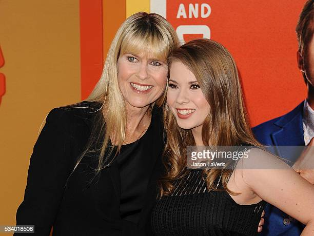 Terri Irwin and Bindi Irwin attend the premiere of The Nice Guys at TCL Chinese Theatre on May 10 2016 in Hollywood California