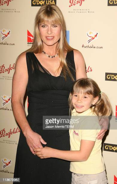 Terri Irwin and Bindi Irwin during 2007 Australia Week Gala Arrivals in Los Angeles California United States
