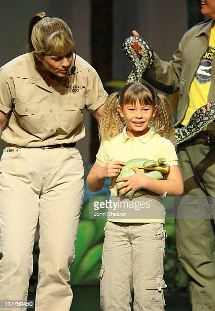 Terri Irwin and Bindi Irwin during G'Day USA Aussie Family Concert at LA Music Center Ahmanson Theater in Los Angeles California United States