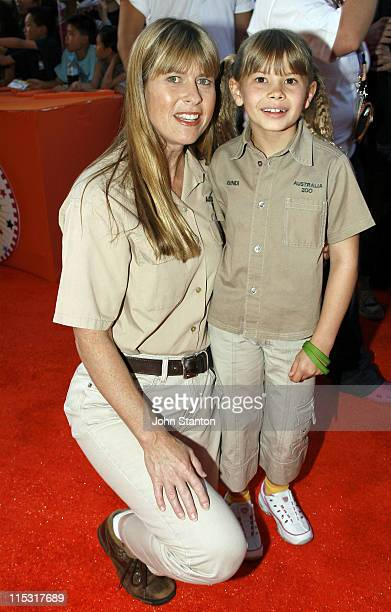 Terri Irwin and Bindi Irwin during Nickelodeon Australian Kids' Choice Awards 2006 Arrivals at Sydney Entertainment Centre in Sydney NSW Australia