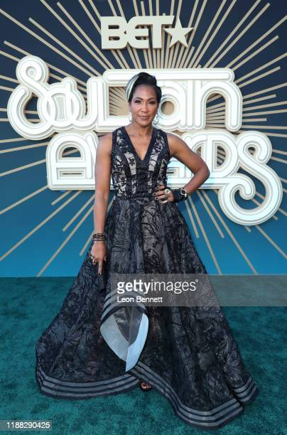 Terri J Vaughn attends the 2019 Soul Train Awards presented by BET at the Orleans Arena on November 17 2019 in Las Vegas Nevada