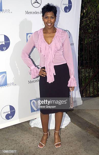 Terri J Vaughn during Holly Robinson Peete Rodney Peete and Mercedes Benz Honor Muhammad Ali With The Designcure Award of Courage at Private...