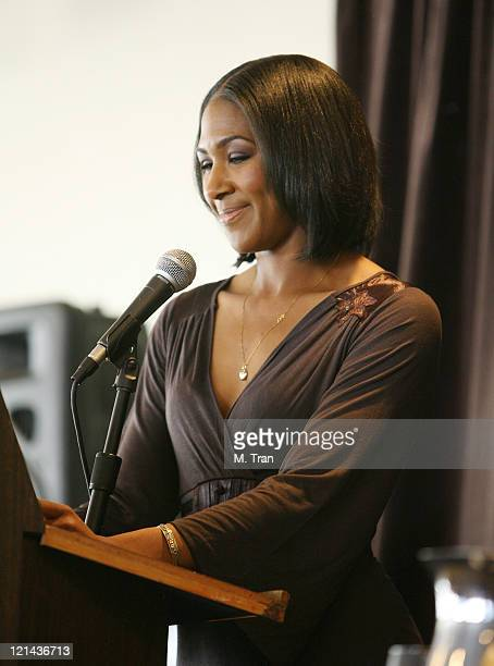 Terri J Vaughn during NAACP Theatre Awards Nominations January 16 2007 at The Roosevelt Hotel in Hollywood California United States