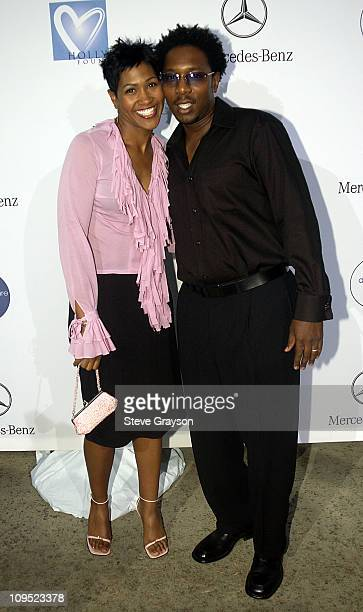 Terri J Vaughn husband during Holly Robinson Peete Rodney Peete and Mercedes Benz Honor Muhammad Ali With The Designcure Award of Courage at Private...