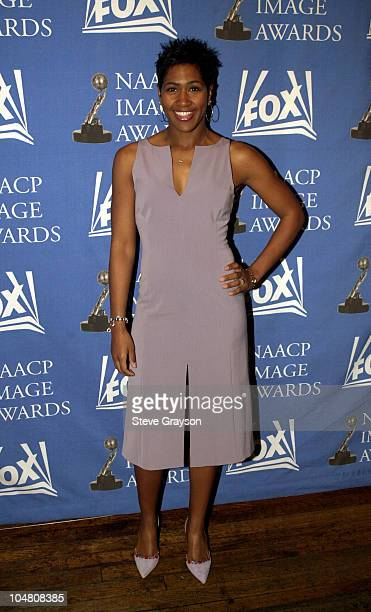 Terri J Vaughn NAACP Image Award nominee for Outstanding Supporting Actress in a Comedy Series poses for photographers at the nominations...