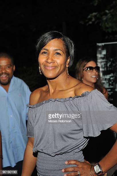 Terri J Vaughn's at her birthday party at a Private Residence on August 29 2009 in Atlanta Georgia