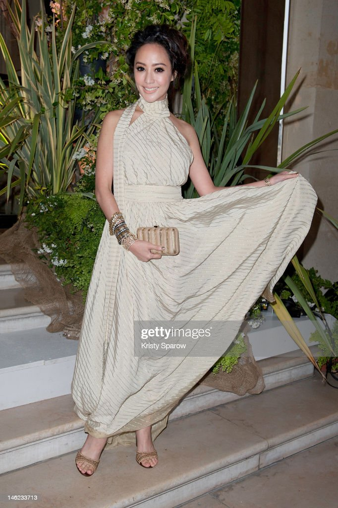 Terri Kwan attends the Salvatore Ferragamo Cruise Collection 2013 show presented at Galerie Denon at the Louvre Museum on June 12, 2012 in Paris, France.