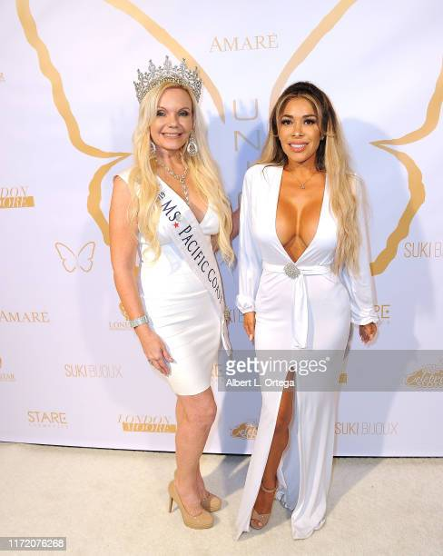 Terri McDonald and Olga Loera attend Amare Magazine's 10th Issue Release Party held at Sky Bar Mondrian Hotel on September 1 2019 in West Hollywood...