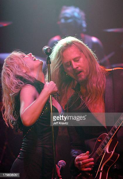 Terri Nunn and Jerry Cantrell during Camp Freddy Benefit Concert for South East Asia Tsunami Relief at Key Club in Hollywood California United States