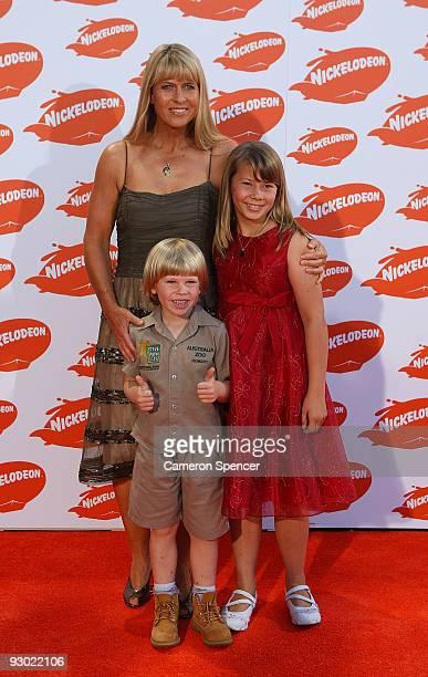 Terri Robert and Bindi Irwin arrive for the Australian Nickelodeon Kids' Choice Awards 2009 at Hisense Arena on November 13 2009 in Melbourne...