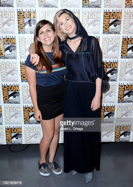 Terri Schwartz and Jodie Whittaker pose during the Doctor Who: BBC America's Official panel during Comic-Con International 2018 at San Diego...