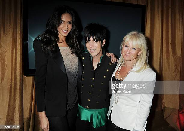 Terri Seymour Diane Warren and Caroline Grainge attend the Universal Music Group 54th Grammy Awards Viewing Reception hosted by Lucian Grainge at...