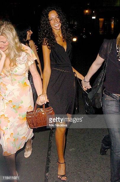 Terri Seymour during Celebrity Sighting in London August 5 2005 at Soho in London Great Britain