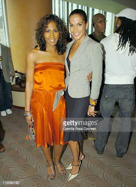 Terri Vaughn and Crystal McCrary Anthony during HRC Presents Sneak Preview of Dirty Laundry May 19 2006 at HBO Building in New York City New York...
