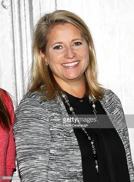 Terri Zandhuis attends AOL Build Speaker Series Tara Stiles Dr Karen Latimer Jen Ator And Terri Zandhuis at AOL Studios In New York on January 18...