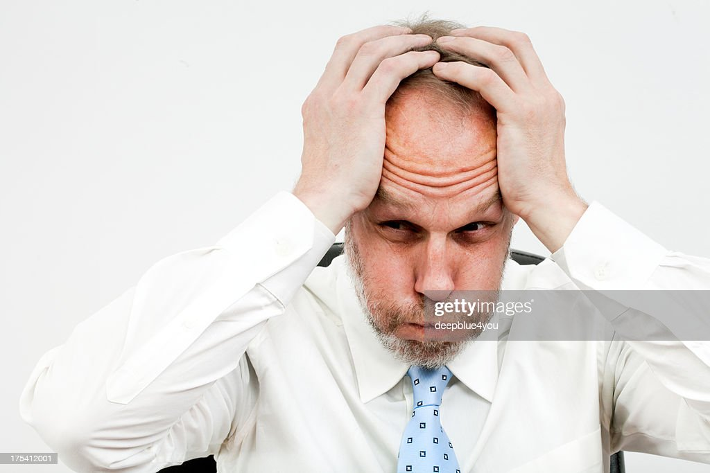 terrible migrain : Stock Photo
