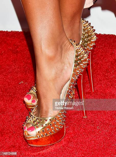 Terricka Cason Cromartie attends The Playboy Mansion kickoff party for the ESPYs at the Playboy Mansion on July 9 2012 in Beverly Hills California