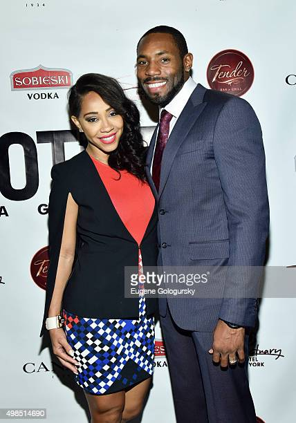 Terricka Cromartie and Antonio Cromartie attend the GOTHAM Men's event with host Antonio Cromartie at Tender Restaurant in The Sanctuary Hotel at...