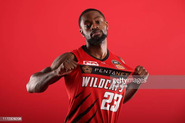 Terrico White poses during a Perth Wildcats NBL portrait session on August 30, 2019 in Perth, Australia.