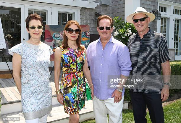 Terrie Sultan Jean Shafiroff Tim Davis and Christopher French attend Hamptons Magazines celebration of Cover Art by Melinda Hackett at a Brunch...