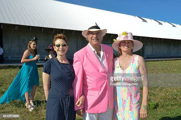 Terrie Sultan Stewart F Lane and Bonnie Comley attend the Naming Celebration For Stewart F Lane Bonnie Comley Event Lawn at the Parrish Art Museum on...