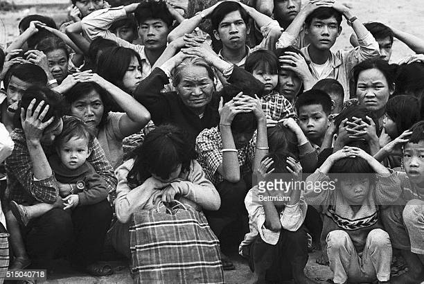 Terrified Vietnamese Civilians in City of Hue 1968