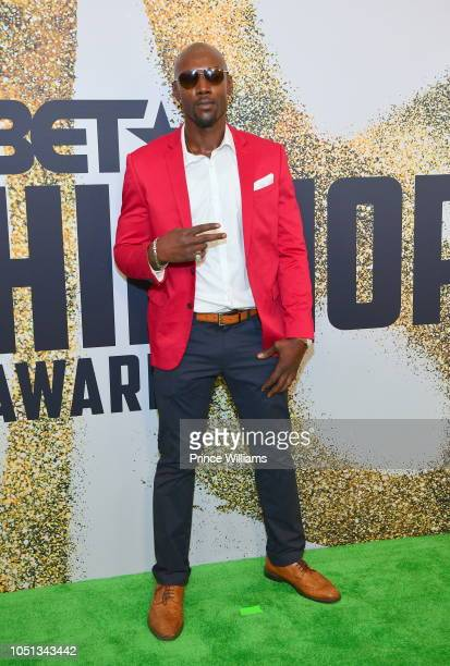 Terron Hall arrives at the BET Hip Hop Awards 2018 at Fillmore Miami Beach on October 6 2018 in Miami Beach Florida