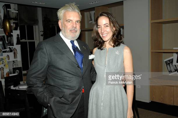 Terron Schaefer and Pamela Golbin attend Santiago Barberi Gonzalez hosts intimate dinner for Pamela Golbin to celebrate the launch of her book on...