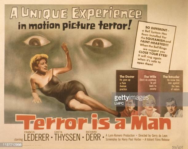 Terror Is A Man poster US poster from left Greta Thyssen Francis Lederer Greta Thyssen Richard Derr 1959