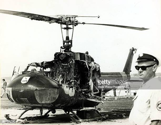 Terrorism 1972 Olympic Games in Munich pic September 1972 The helicopter of the German Border Police which was blown up by Arab guerillas during a...