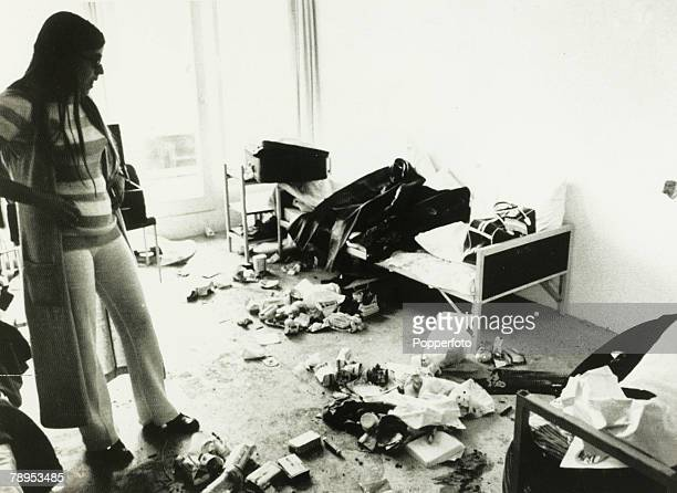 Terrorism 1972 Olympic Games in Munich September 1972 The room in which two Israelis were killed when the Arab guerillas first attacked