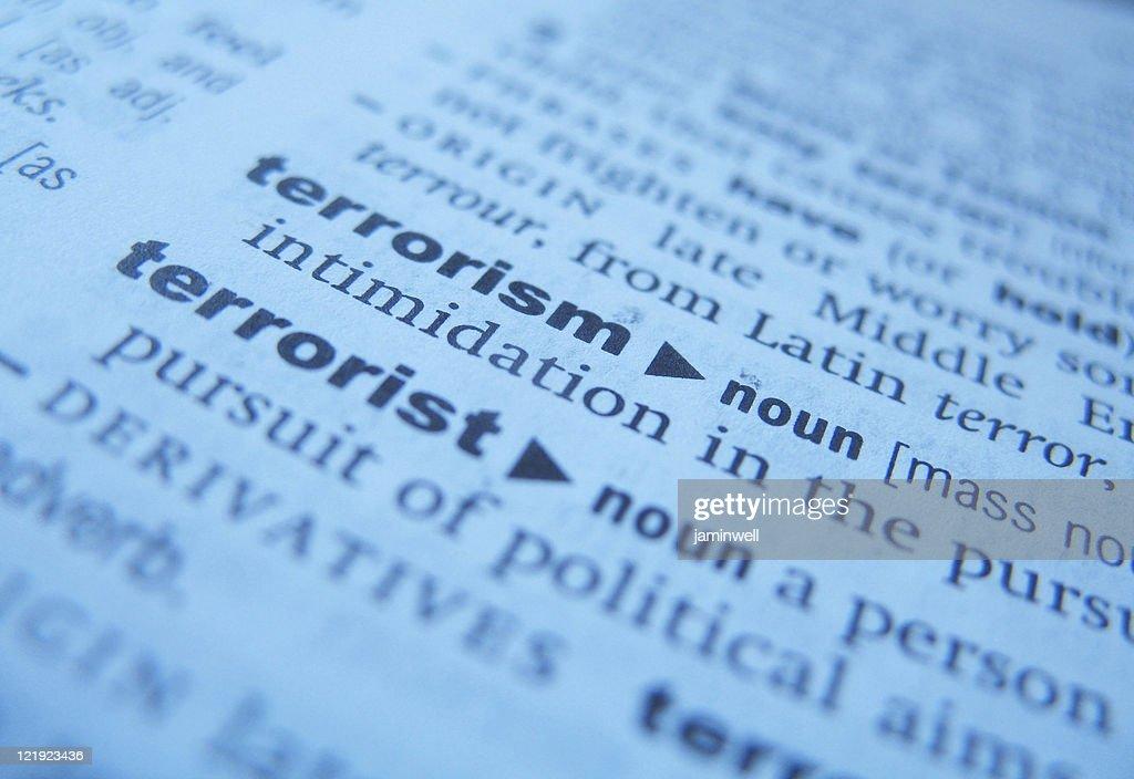 terrorism defined : Stock Photo