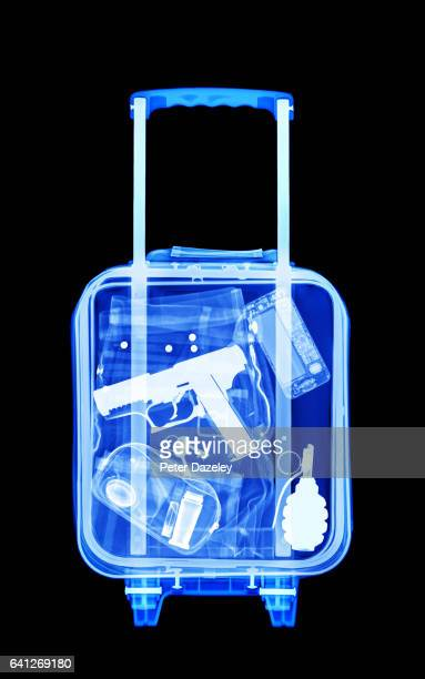 terrorist luggage - weaponry stock pictures, royalty-free photos & images