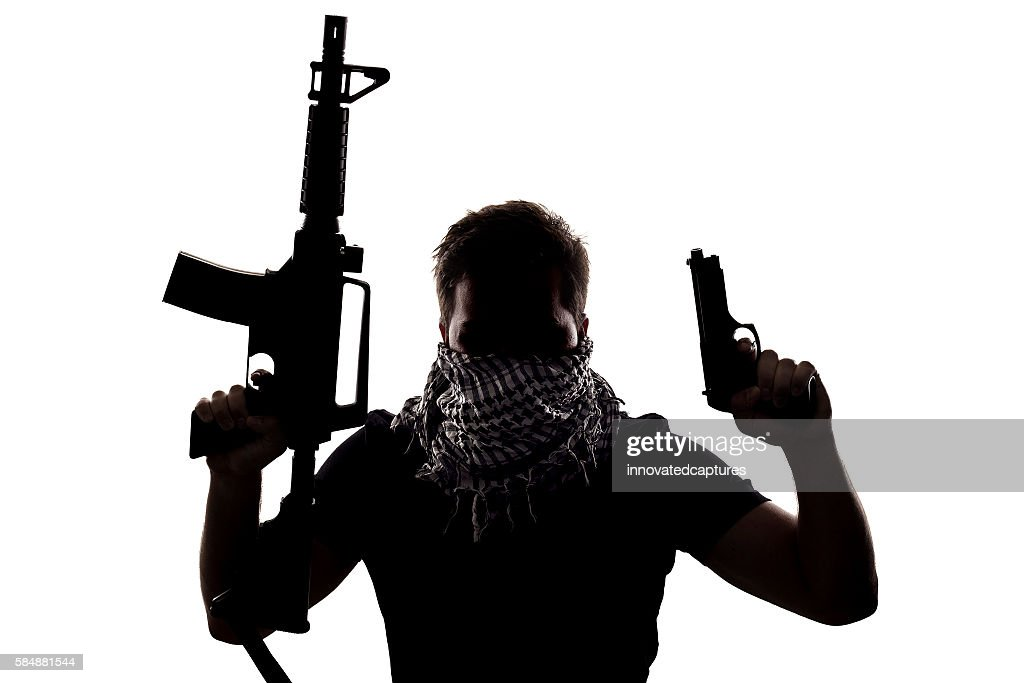 Terrorist or Special Operations Soldier : Stock Photo