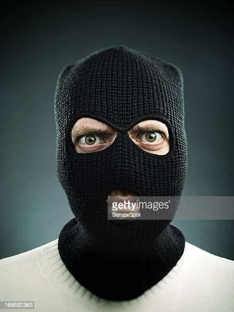 terrorist portrait - burglar stock pictures, royalty-free photos & images