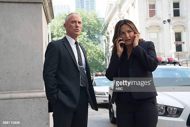 UNIT 'Terrorized' Episode 1801 Pictured Robert John Burke as Captain Ed Tucker Mariska Hargitay as Lieutenant Olivia Benson