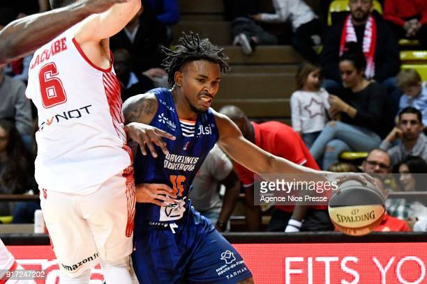 Terry Allen of Gravelines during the Pro A match between Monaco and Gravelines Dunkerque on February 11 2018 in Monaco Monaco