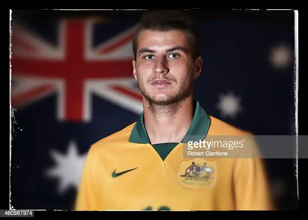 Terry Antonis of Australia poses during an Australian Socceroos headshot session at the InterContinental Hotel on January 3 2015 in Melbourne...