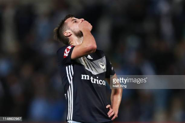 Terry Antonis of the Victory looks dejected after the A-League Semi Final match between Sydney FC and the Melbourne Victory at Netstrata Jubilee...