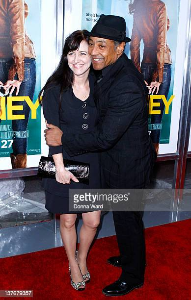 Terry Barone and Giancarlo Esposito attend the One for the Money premiere at the AMC Loews Lincoln Square on January 24 2012 in New York City